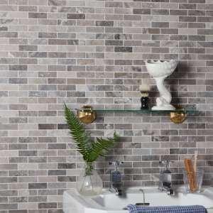 Palladio Marble Slim Brick Mosaic Luxurious Bathroom Wall Tiles