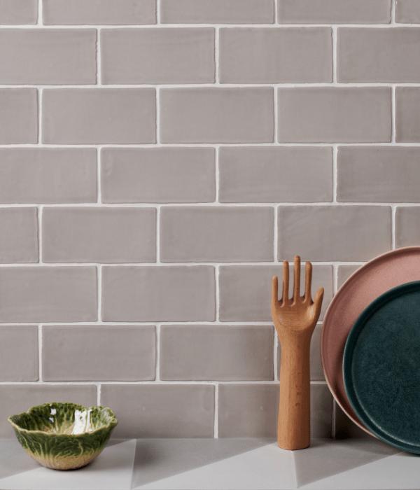 Seaton Ceramic Oyster Bathroom Wall Tiles