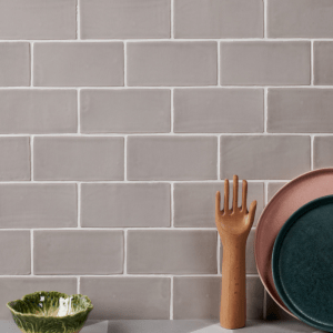 Seaton Ceramic Oyster Bathroom Wall Tiles