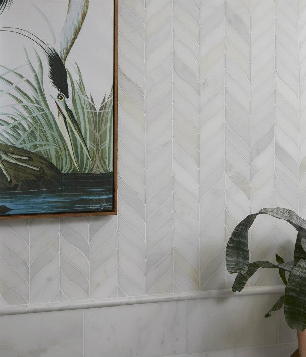 Zen Leaf Marble Mosaic Wall Tiles