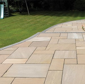 Autumn Brown natural Indian Sandstone patio pavers
