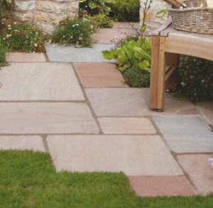 Indian natural riven sandstone patio slabs