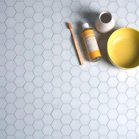 porcelain mosaic wall or floor tile