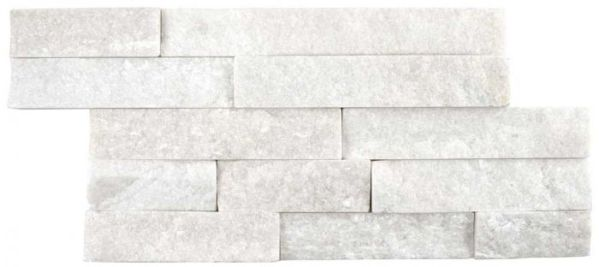 quartzite natural white split face tile
