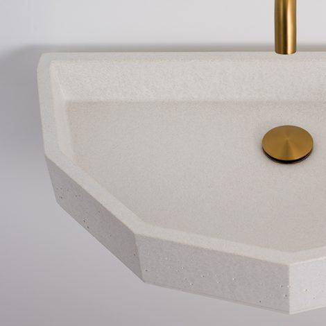 Cement hand basin for a bathroom or en-suite