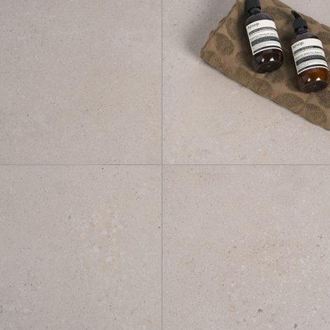 bone coloured porcelain wall and floor tiles