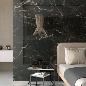 black white and gold marble effect porcelain wall tiles