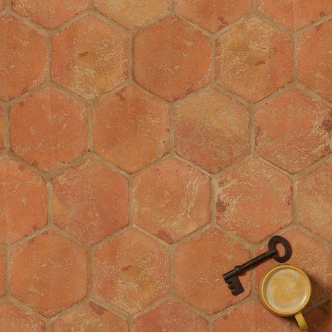 terracotta wall and floor tiles