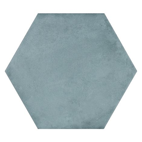 single aqua coloured porcelain wall and floor tile