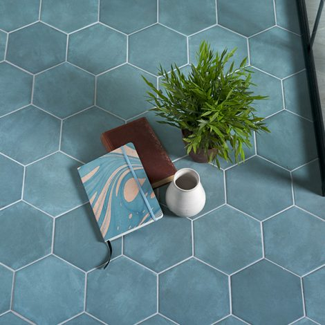 aqua marine porcelain wall and floor tile
