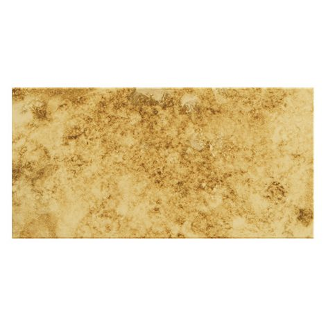 brass coloured mirrored glass single wall tile