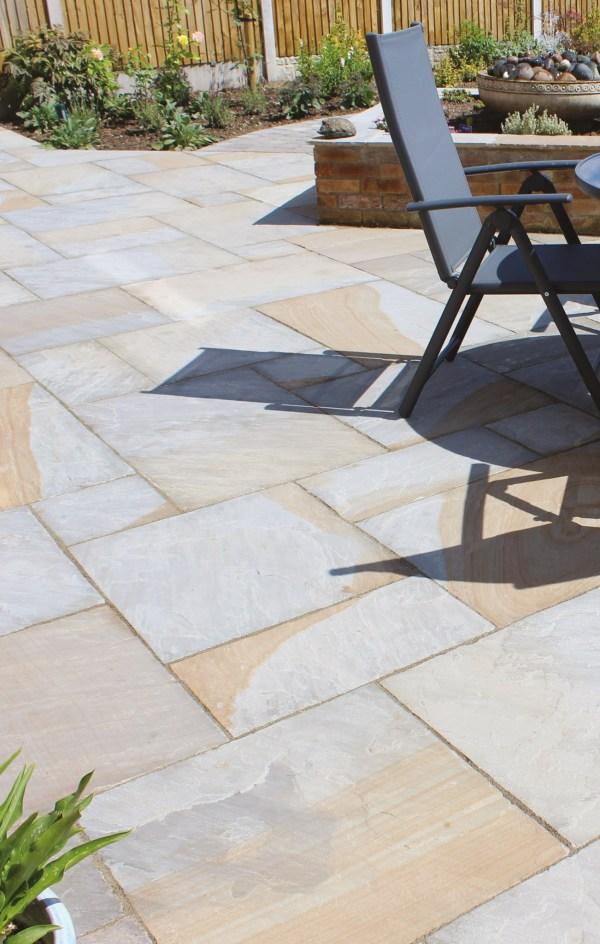 York Mix natural indian sandstone pavers