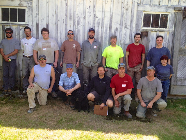 Dry Stone Wall Test Candidates and Examiners