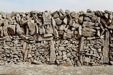 Family wall from Inis Mor, Aran Islands
