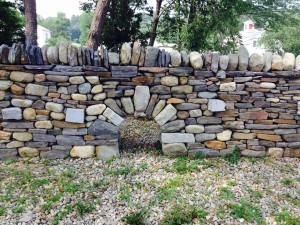 dry stone wall arch