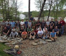 May 2015 two day dry stone walling workshop group photo
