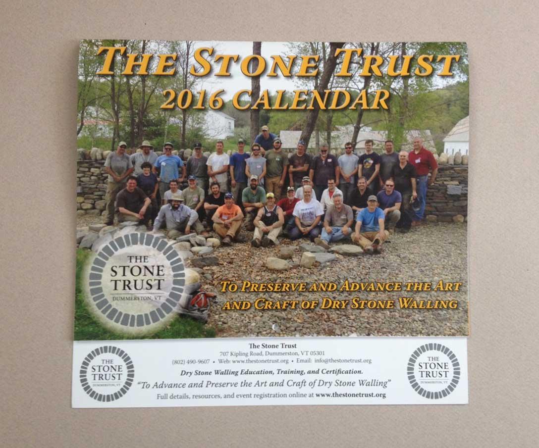 The Stone Trust 2016 Dry Stone Walling Calendar