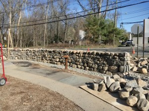 Completed section of dry stone wall