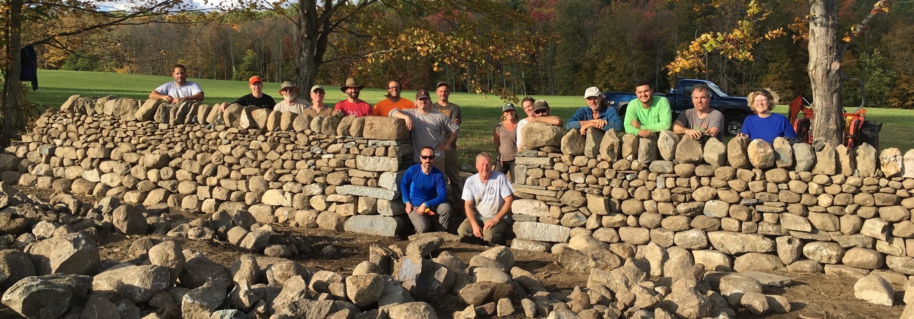 Learning to build dry stone wall
