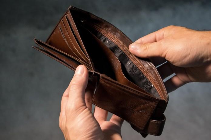 poor, no money, purse, empty wallet, wallet