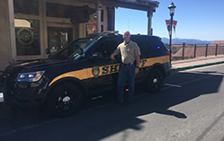 Sheriff Antinoro poses in front of new interceptor