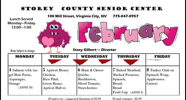 Senior Center Lunch Menu February Week One