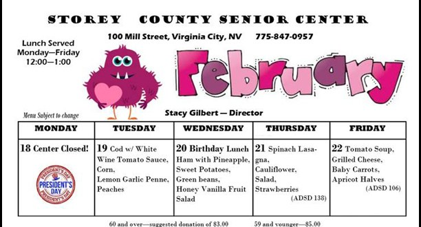 Senior Center Lunch Menu February Week Three