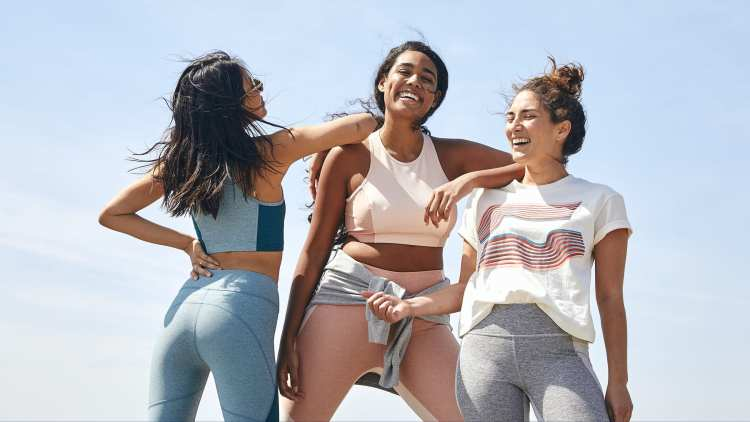 the first Madewell x Outdoor Voices activewear collab has officially launched