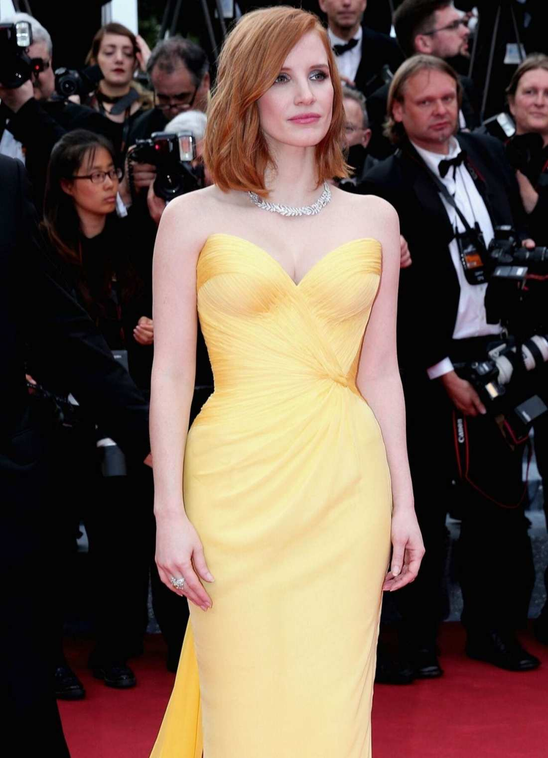 Celebrity Stylist Elizabeth Stewart styles Jessica Chastain for 2016 Cannes Film Festival Armani Prive