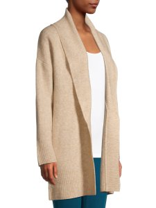 Product image of Walmart Time and Tru Collar Cardigan Sweater in Oatmeal Heather