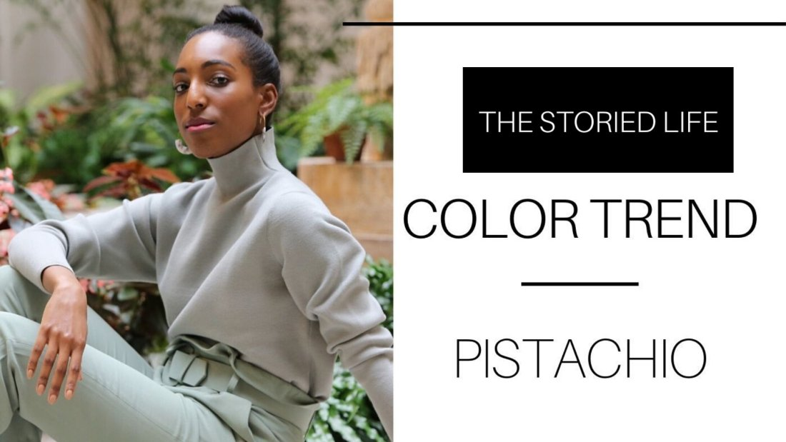 Click to shop Lana Jackson wearing & Other Stories Pistachio Color Trend