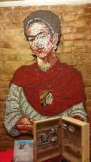 Frida Kahlo Mosaic, La Casa Azul Bookstore, El Barrio, NYC