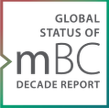 Image & link to the global status of MBC decade report; news in breast cancer research