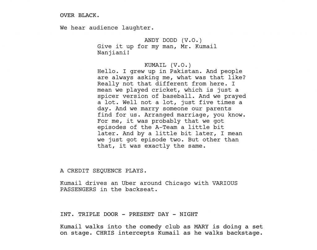 Script Formatting - Audio Over Black