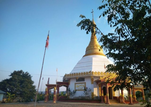 New Buddhist pagoda at Shwe Chaung Meditation Center