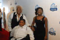 Valetta Bradford, Xzavier Davis-Bilbo, and Aurie Parris attend the premiere of 'From One Second to the Next' by acclaimed director Werner Herzog