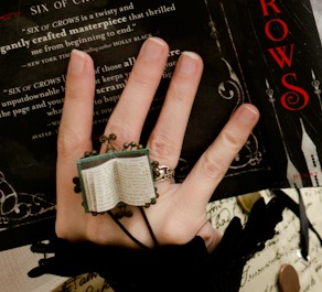 Book Fairy Book Pages Ring