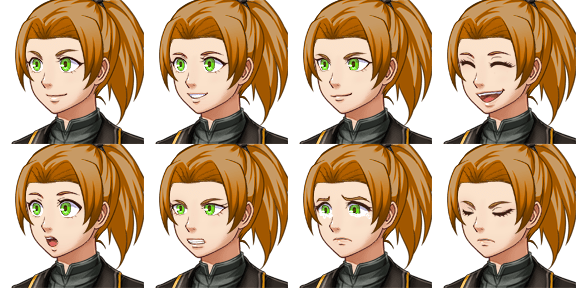 Faceset matching stock sprite SF_Actor2_2 from RPG Maker MV (includes version for XP/VX) (1/2)