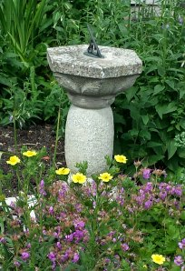 Flowers with sundial