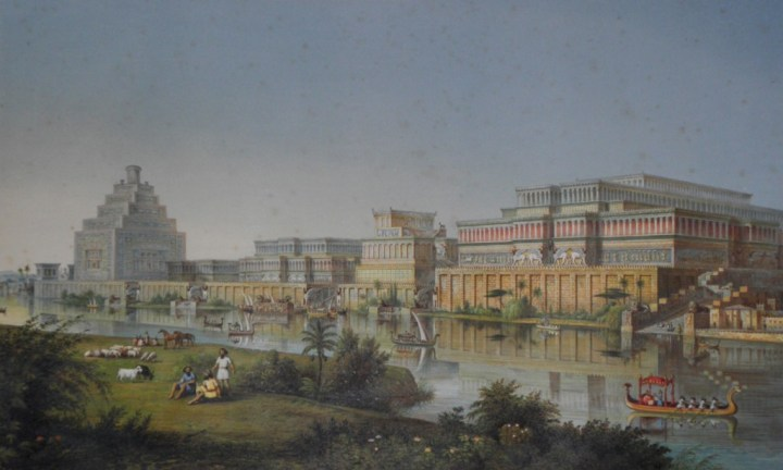 A reconstruction of the city of Babylon, which looked similar to Ur