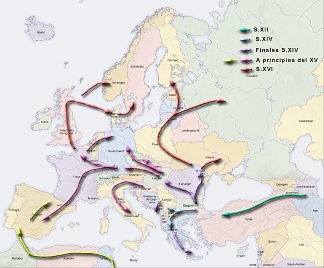 Waves of Romani migration in the early Middle Ages