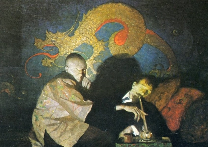 """""""The Opium Eater"""" (1913) by N. Wyeth"""