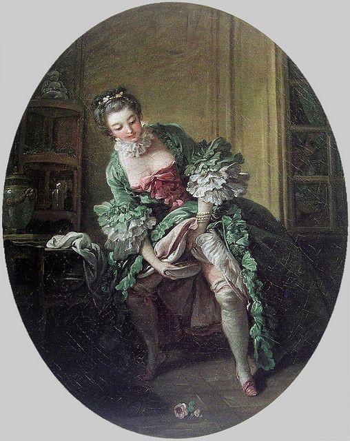 """""""La Toilette intime"""" or """"Une Femme qui pisse"""", by François Boucher, 1760s."""