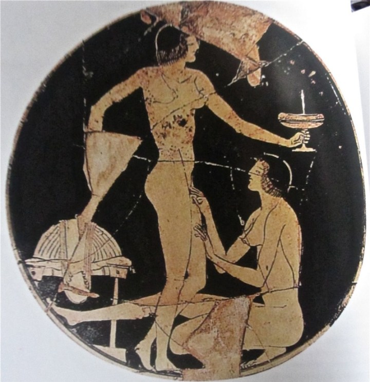 Red-figure kylix by Apollodoros, ca. 475 BCE