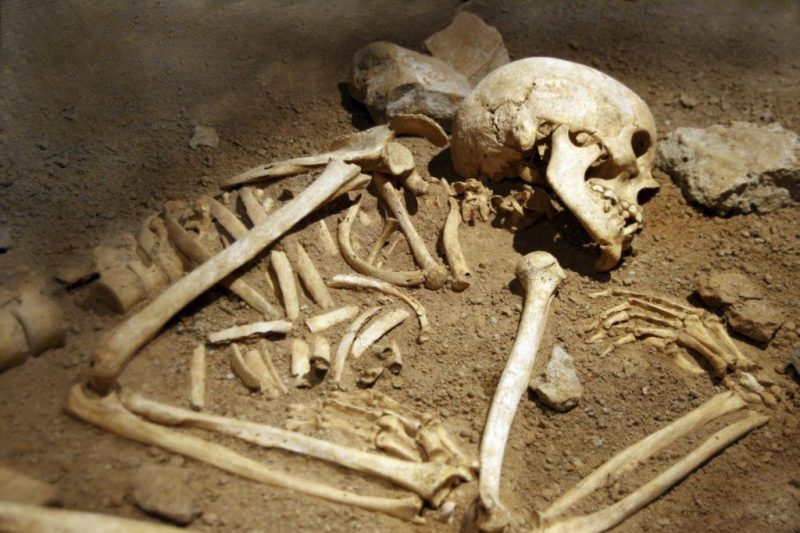 One of the Chinese skeletons unearthed in Roman Britain