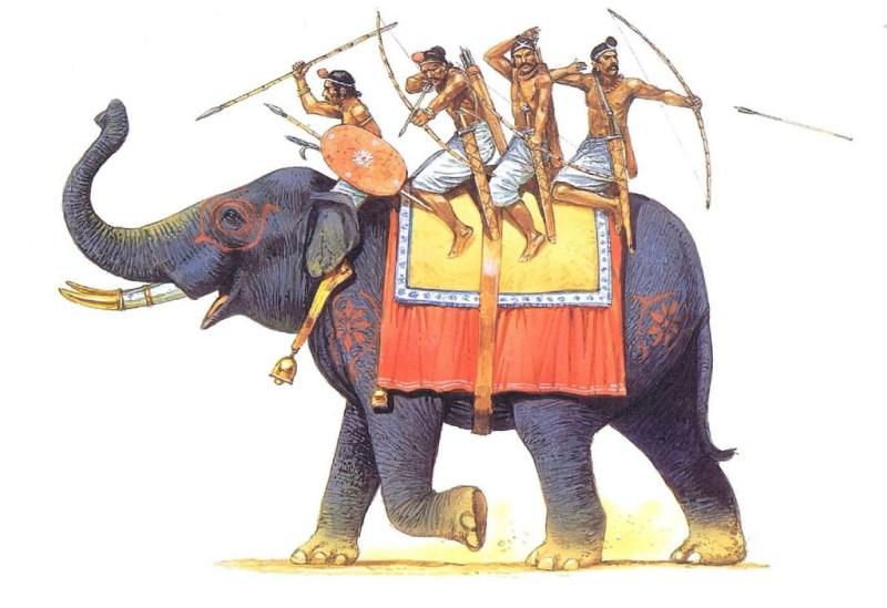 Gupta elephant-archers
