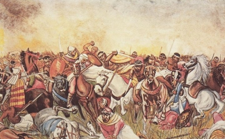 Wagadu people battling Imazighen (Berbers)
