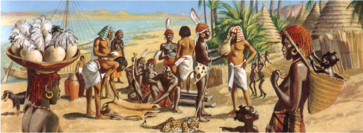 Egyptians trading with Kushites