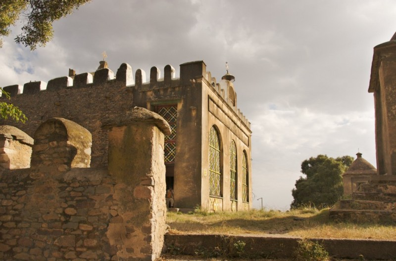 The old Church of St. Mary of Zion still stands in Axum, Ethiopia.