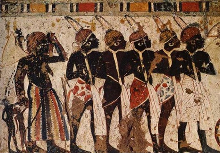 Kushite people, as depicted in a painting from the Egyptian Middle Kingdom